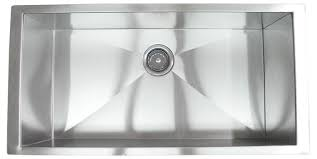 Undermount Single Bowl Kitchen Sinks - 36 inch stainless steel undermount single bowl kitchen sink zero