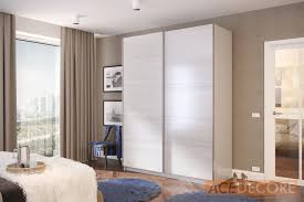 Sliding Door Wardrobe Cabinet Irbis White Oak Wardrobe Closet Furniture From Ace Decore