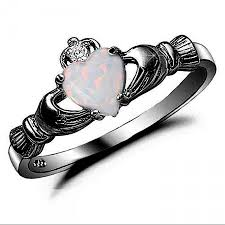 black promise rings images Claddagh ring black gold 925 sterling silver 0 75 carat created jpg