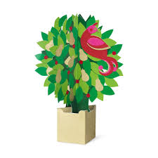 moma christmas cards partridge in a pear tree 3d pop up christmas cards by moma