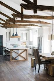 Urban Farmhouse Kitchen - get the farmhouse look at urban farmhouse farm tables lighting