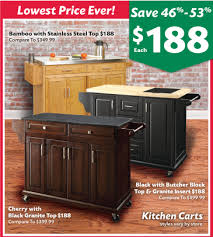 kitchen island big lots bamboo kitchen cart with stainless steel top bamboo design gallery