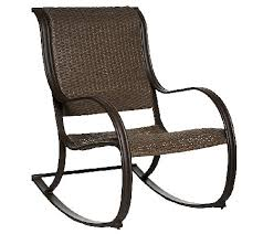 Outdoor Patio Rocking Chairs Atleisure Julia Padded Faux Wicker Rocking Chair Page 1 U2014 Qvc Com