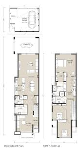 inspiring design 2 story house plans for narrow lots 1 25 best
