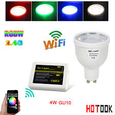 aliexpress com buy mi light 2 4g 4w gu10 led spotlight rgbw