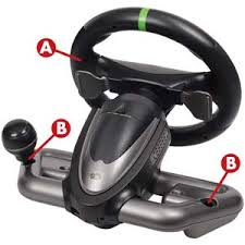 xbox 360 steering wheel amazon com xbox 360 wireless racing wheel