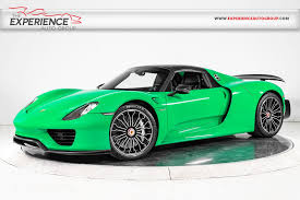 porsche 918 exterior used 2015 porsche 918 spyder weissach for sale plainview near