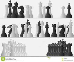White Chess Set Set Banners Of Black And White Chess Pieces Stock Photos Image