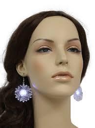 light up christmas earrings womens light up christmas snowflake earrings 90s flashing
