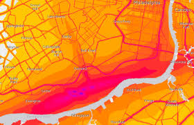Map Of New Orleans Airport by New Map Reveals Noise Levels Of Philly And Beyond Curbed Philly