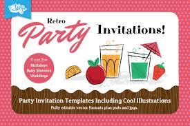 party invitation templates retro party invitation design templates for members