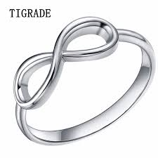 infinity wedding rings 925 sterling silver rings women cross infinity wedding band