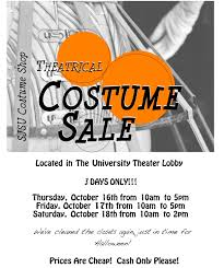 Halloween Costume Sale 2014 Halloween Costume Sale Television Radio Film Theatre Trft