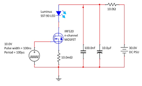 high power pulsed led driving circuit electrical engineering