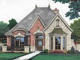Cottage House Plans With Porte Cochere by Narrow Lot Castle Hwbdo14581 French Country From
