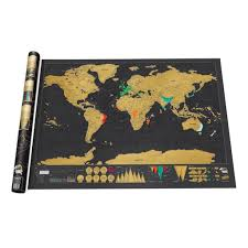 World Map Wall Poster by Expeditionary Scratch Off World Map Capitals Poster Travel Toy