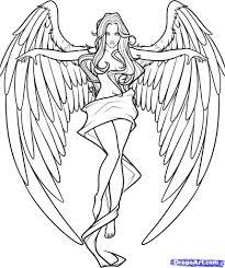 how to draw angels drawing pencil