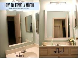Bathroom Mirror Frame Kit Extraordinary Ideas Bathroom Mirror Frame Kit Marvelous Ideas