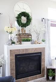 Mantle Decor | summer mantle decor blooming homestead
