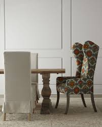 drop dead gorgeous image of dining room sets upholstered chairs killer image of dining room decoration using colorful wing back grey and orange pattern dining chair