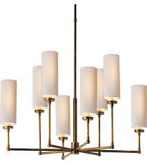 Aged Brass Chandelier Visual Comfort Tob5016hab Np Obrien Ziyi 8 Light 34 Inch