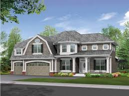 gambrel roof and craftsman trim create stunning facade hwbdo14518