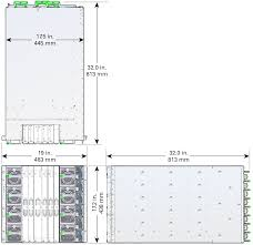 physical dimensions stand alone servers sparc m8 and sparc m7