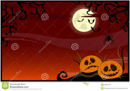 happy halloween theme greeting card vector illustration stock