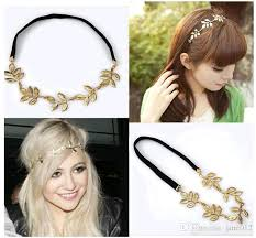 chain headband new gold olive leaf headband peice chain leaves golden