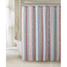 Coral And Gray Curtains Clever Ideas Coral Colored Shower Curtain Colette Fabric From Bed