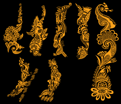 indian henna tattoo designs vector free 123freevectors