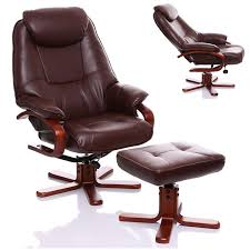 Leather Recliner Chair Uk The Macau Bonded Leather Recliner Swivel Chair With Matching