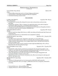 sample resume for undergraduate students u2013 topshoppingnetwork com
