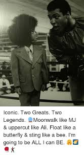 Uppercut Meme - iconic two greats two legends moonwalk like mj uppercut like ali