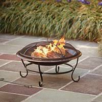Ceramic Fire Pit Chimney - outdoor fireplaces outdoor heating the home depot