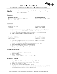 Teachers Resume Objectives Career Change Resume Objective Examples 100 Free Resume