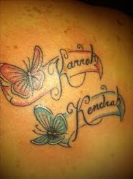 name tattoos butterfly tattoos with names and with names on