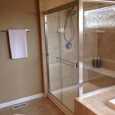inline shower door with header and top and bottom pivot hinges yelp
