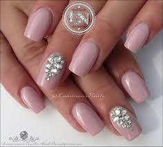luminous nails bridal nails with swarovski crystals acrylic