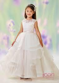 1st communion dresses joan calabrese 118310 tiered skirt communion dress