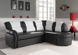 petit canap blanc canapé d angle convertible design coloris blanc noir luxuria