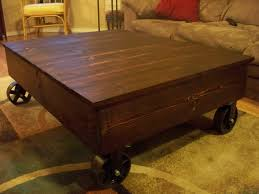 Rustic Coffee Table On Wheels Coffe Table Rustic Coffee Table With Wheels Antique