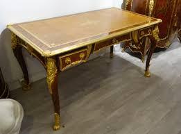 bureau de style bureau plat napoleon iii bronze de style louis xv anger antiquités