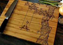cutting board wedding gift personalized cutting board wedding gift custom engraved tree