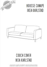 Ikea Couch Cover Ikea Karlstad Couch Cover Pattern Patron Housse Ikea