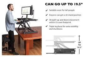Sit Stand Adjustable Desk Adjustable Standing Desk Converter By G Pack Pro Slim Elite