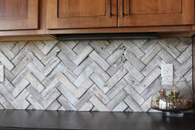 beveled subway tile backsplash kitchen patterns wood herringbone