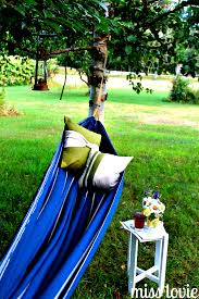 miss lovie easy diy backyard hammock