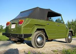 Vw Thing Side Curtains Rare Avocado Green 1974 Vw Thing For Sale