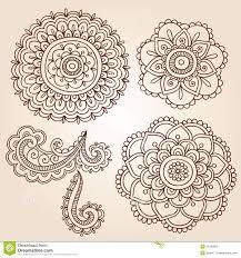 henna tattoo flower mandala doodle vector designs illustration